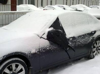 Защитный чехол от инея и снега лобового стекла
