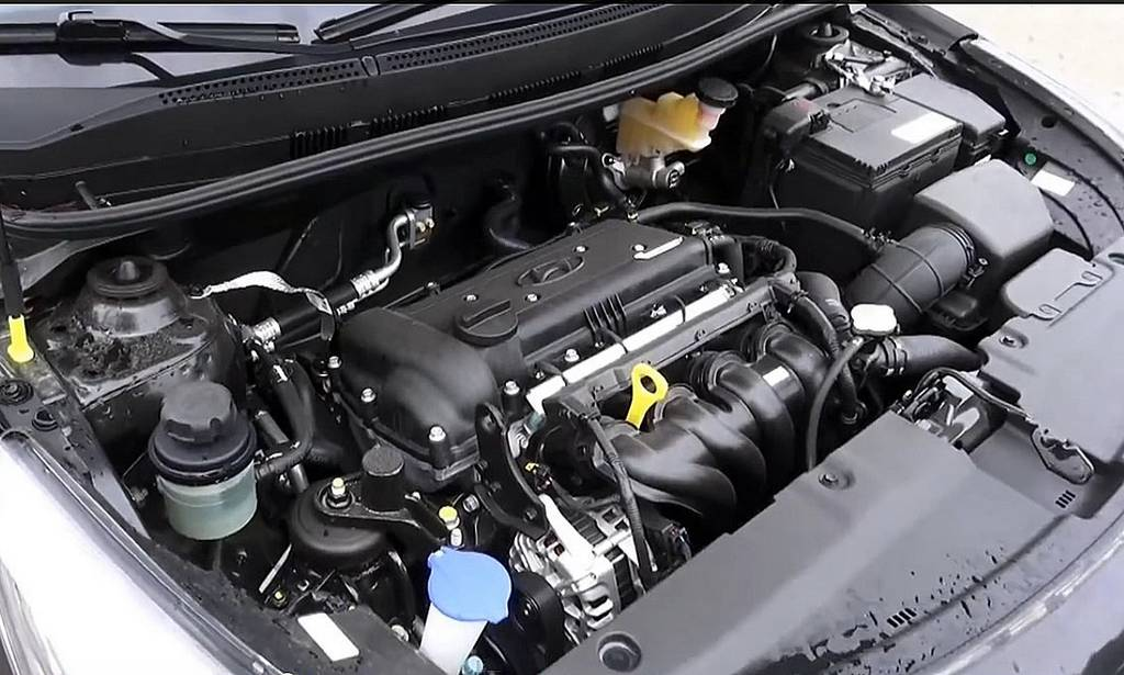 фото двигателя нового Хендай Солярис