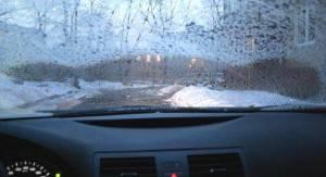 обдув стекла зимой