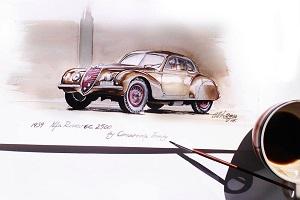 Румынский художник создает кофейные зарисовки автомобилей